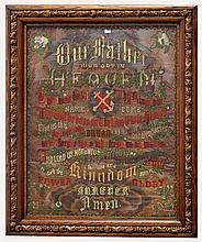 Lord's prayer needlework