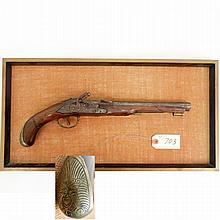 Flint lock black powder pistol