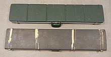Two hard side carry cases