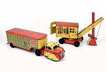 Two Marx tin litho trucks