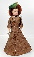 Wax shoulder head doll