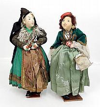 Two Ilse Ludecke cloth dolls