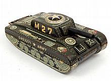 Linemar tin litho army M27 tank friction