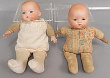 Two Armand Marseille bisque head dolls