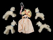 1940's German Baps Little Bo Peep cloth and wire doll