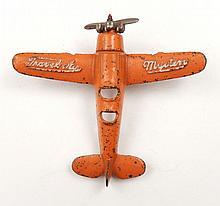 Kilgore Travel Air Mystery cast iron plane