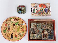 Popeye bank and two child's puzzles