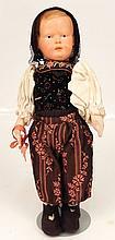 Antique German celluloid doll, Kathe Kruse type