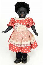 Antique black bisque head doll