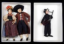 Grouping of 1940's German Baps cloth and wire dolls