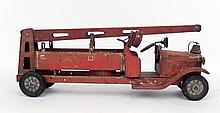 Keystone Toys pressed steel Water Tower fire truck