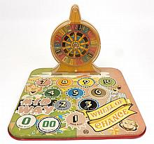 Marx Midway Wheel of Chance tin litho game