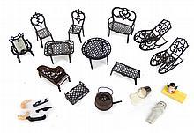 France metal doll house furniture