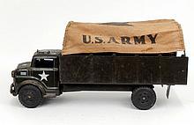 Marx Lumar U.S. Army pressed steel truck canvas top