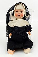 German bisque head Nun doll