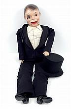 Large composition Charlie McCarthy ventriloquist doll