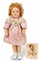 Composition Shirley Temple doll, all original