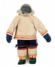 Inuit soapstone and cloth doll