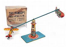 Unique Art Sky Rangers tin litho aeroplane toy