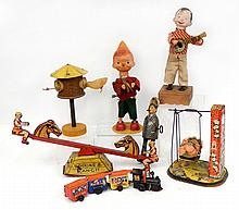 Grouping of windup toys