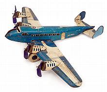 Marx TWA U.S. Mail tin wind-up airplane