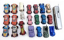 Grouping of miniature diecast and tin litho cars,