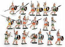 Grouping of diecast Roman soldiers