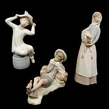Three Lladro figurines