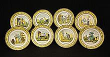 Set of eight P&H; Choisy plates