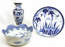 19th C. Japanese blue underglaze pieces