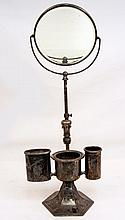 F.B. Rogers silverplated vanity shaving mirror