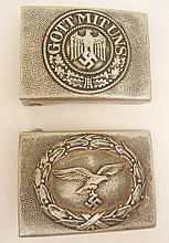 German Nazi aluminum belt buckles