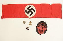 Hitler Youth armband and Nazi pins