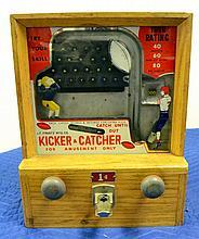 J.F. Frantz Mfg. Co. Kicker & Catcher 1 cent game