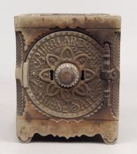 Cast iron bank by J. & E. Stevens