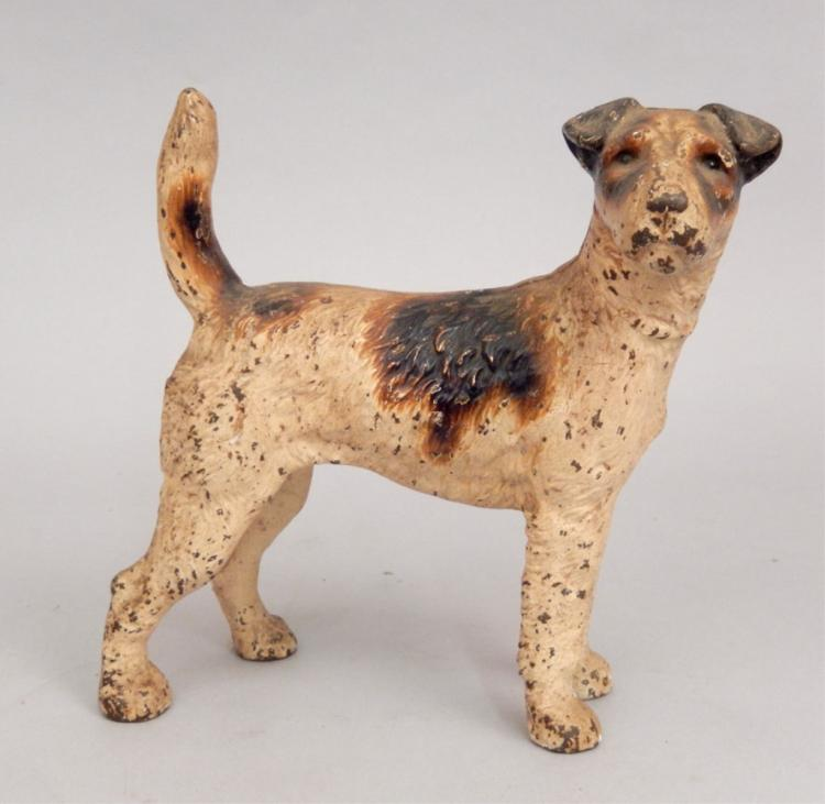 Cast iron terrier dog doorstop - Cast iron dog doorstop ...