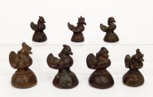 19th C. bronze Burmese opium weights