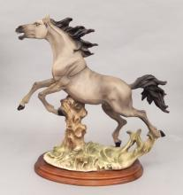 Capodimonte porcelain horse