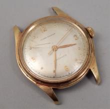 Mens 14k gold Tilden-Thurber wrist watch