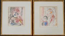 Phillippe (Alfieri) two lithographs on paper
