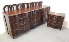 John Widdicomb cherry three piece bedroom set