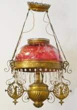 Hanging electrified oil lamp