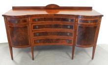 Federal inlaid mahogany sideboard