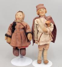Two Stockinette dolls