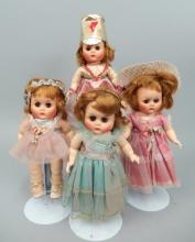 Four Little Miss Angel type dolls