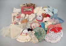 Grouping of vintage doll clothes for 8-10