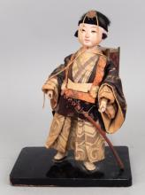 Vintage Tanabe Doll Co. Warrior doll on base