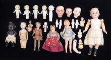 Grouping of small dolls