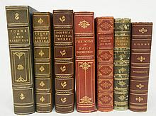 Seven 3/4 gilt leather bound books on Poetry