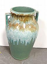 Flambe glazed pottery vase